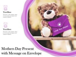 Mothers Day Present With Message On Envelope