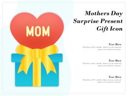 Mothers Day Surprise Present Gift Icon