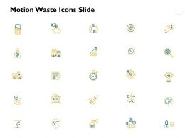 Motion Waste Icons Slide Growth Gears Ppt Powerpoint Presentation Model Portfolio