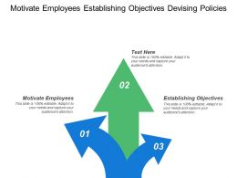 Motivate Employees Establishing Objectives Devising Policies Allocating Resources