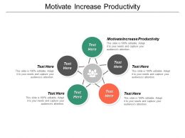 Motivate Increase Productivity Ppt Powerpoint Presentation Pictures Show Cpb
