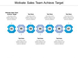 Motivate Sales Team Achieve Target Ppt Powerpoint Presentation Gallery Slides Cpb