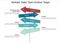Motivate Sales Team Achieve Target Ppt Powerpoint Presentation Infographics Outline Cpb
