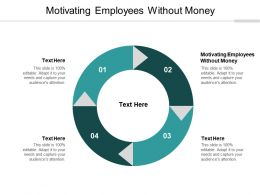 Motivating Employees Without Money Ppt Powerpoint Presentation Pictures Graphic Cpb