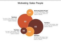Motivating Sales People Ppt Powerpoint Presentation Slides Graphics Tutorials Cpb