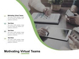 Motivating Virtual Teams Ppt Powerpoint Presentation Inspiration Cpb
