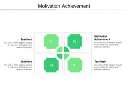 Motivation Achievement Ppt Powerpoint Presentation Styles Guidelines Cpb