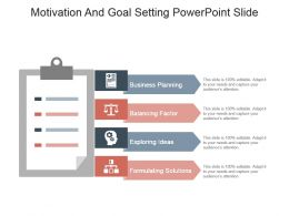 Motivation And Goal Setting Powerpoint Slide
