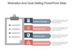 Motivation And Goal Setting Powerpoint Slide