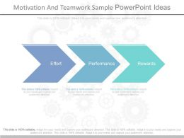 Motivation And Teamwork Sample Powerpoint Ideas