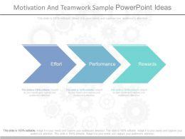 Motivation And Teamwork Sample Powerpoint Ideas