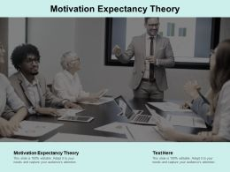 Motivation Expectancy Theory Ppt Powerpoint Presentation Summary Graphics Pictures Cpb