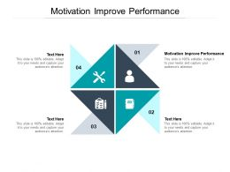Motivation Improve Performance Ppt Powerpoint Presentation Model Picture Cpb