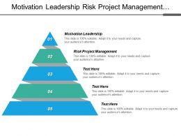 Motivation Leadership Risk Project Management Project Management Techniques Cpb