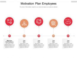 Motivation Plan Employees Ppt Powerpoint Presentation Professional Graphics Example Cpb