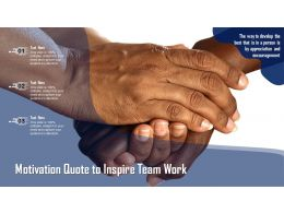 Motivation Quote To Inspire Team Work