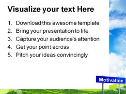 Motivation Signpost Business Metaphor PowerPoint Templates And PowerPoint Backgrounds 0911  Presentation Themes and Graphics Slide03