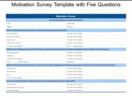 Motivation Survey Template With Five Questions