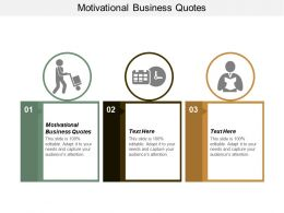 Motivational Business Quotes Ppt Powerpoint Presentation Infographics Maker Cpb