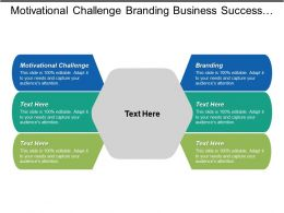 Motivational Challenge Branding Business Success Business Partnerships Sales Proposals