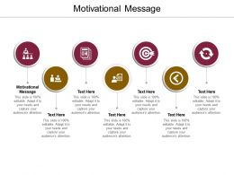 Motivational Message Ppt Powerpoint Presentation Infographics Shapes Cpb