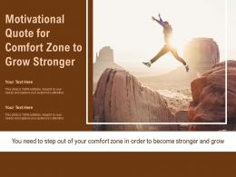 Motivational Quote For Comfort Zone To Grow Stronger