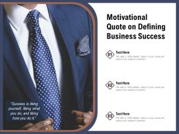 Motivational Quote On Defining Business Success