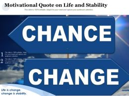 Motivational Quote On Life And Stability