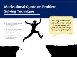 Motivational Quote On Problem Solving Technique