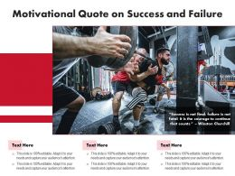 Motivational Quote On Success And Failure