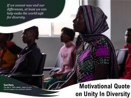Motivational Quote On Unity In Diversity
