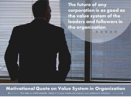Motivational Quote On Value System In Organization
