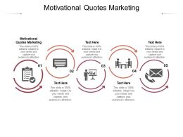 Motivational Quotes Marketing Ppt Powerpoint Presentation Outline Icons Cpb