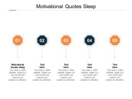 Motivational Quotes Sleep Ppt Powerpoint Presentation Infographics Demonstration Cpb