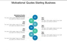 Motivational Quotes Starting Business Ppt Powerpoint Presentation Professional Mockup Cpb