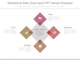 Motivational Sales Goal Layout Ppt Sample Download