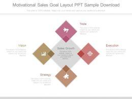 Motivational Sales Goal Layout Ppt Sample Download
