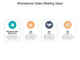 Motivational Sales Meeting Ideas Ppt Powerpoint Presentation Inspiration Background Image Cpb