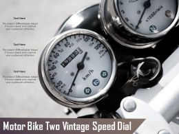 Motor Bike Two Vintage Speed Dial