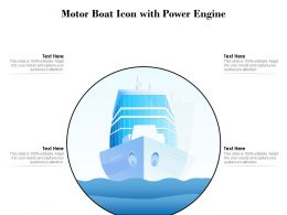 Motor Boat Icon With Power Engine