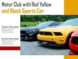 Motor Club With Red Yellow And Black Sports Car