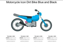 Motorcycle Icon Dirt Bike Blue And Black