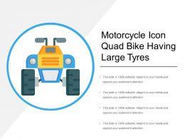 Motorcycle Icon Quad Bike Having Large Tyres