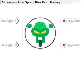 Motorcycle Icon Sports Bike Front Facing