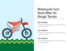 Motorcycle Icon Stunt Bike On Rough Terrain