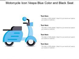 Motorcycle Icon Vespa Blue Color And Black Seat