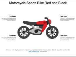 Motorcycle Sports Bike Red And Black