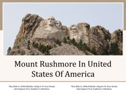 Mount Rushmore In United States Of America