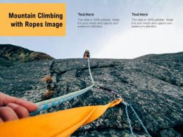 Mountain Climbing With Ropes Image