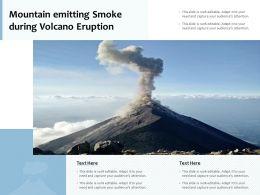 Mountain Emitting Smoke During Volcano Eruption